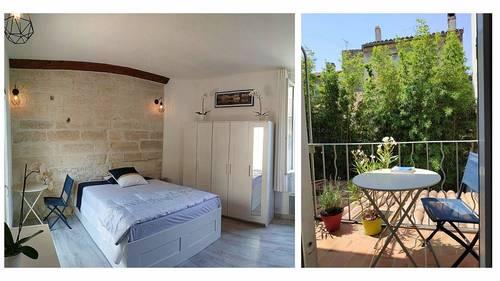 Loue Avignon (84) - maison 56m² - T3+ balcon + cour - meublé