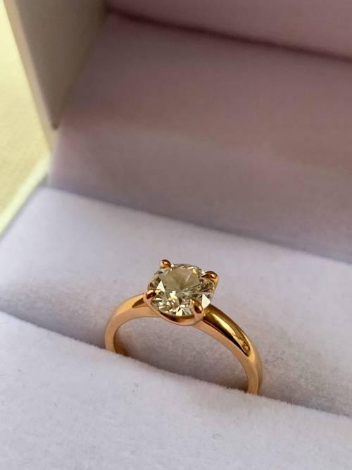 Vends Bague - Solitaire - Diamant 1,20carat