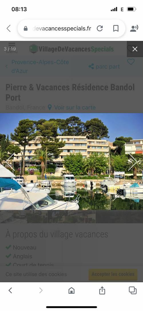 Loue grand studio, 4couchages, Bandol port (83)