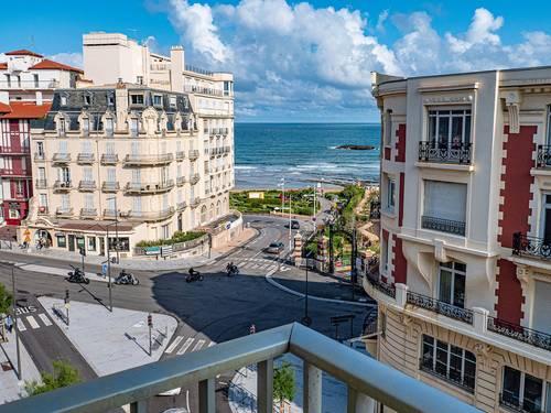 Loue Biarritz centre F3+ Parking- 75m² - vue sur mer, 5couchages
