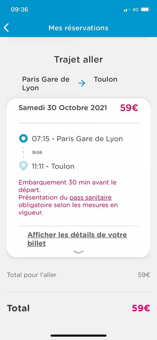 Billet Ouigo Paris Toulon Le 30octobre