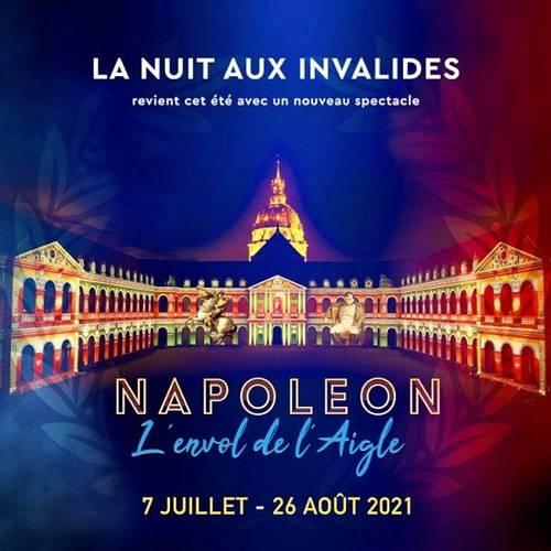 """2Billets pour la Nuit des Invalides """"L'Envol de l'Aigle"""" le 14août"""