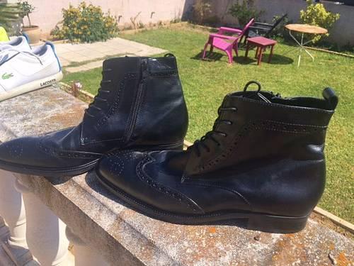 BOOTS cuir noir T 40