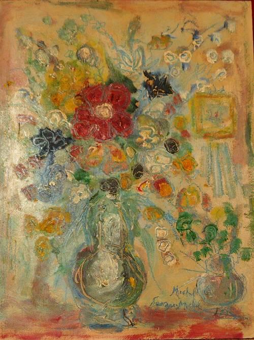 Vends tableau bouquet N° 18- Bouquet à l'atelier