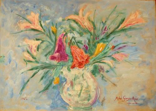 Vends tableau Bouquet N° 11Lys