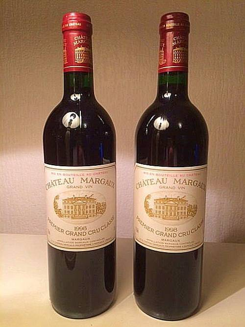 2bouteilles de Château Margaux - 1998- 1er grand cru classé