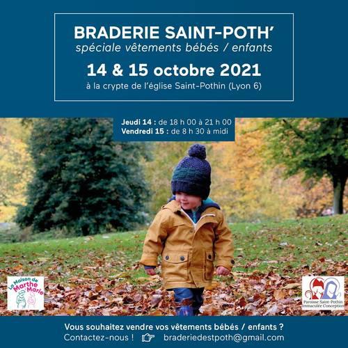 Propose braderie enfants Lyon 6ème - 14et 15octobre