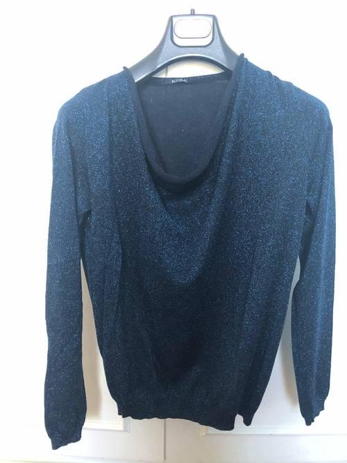 Top brillant bleu Taille 1