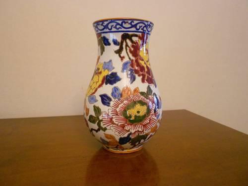 Vase bulbe de Gien décor Pivoines production ancienne