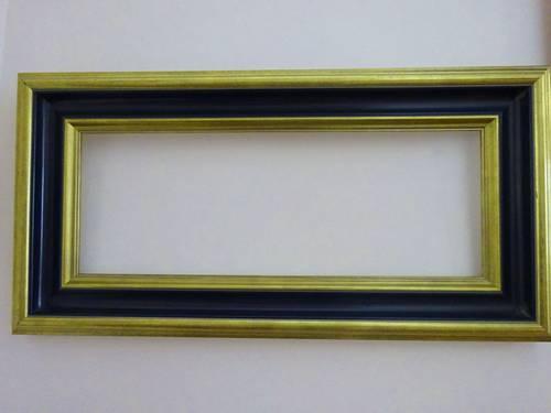 Cadre en bois doré et bleu marine parfait état