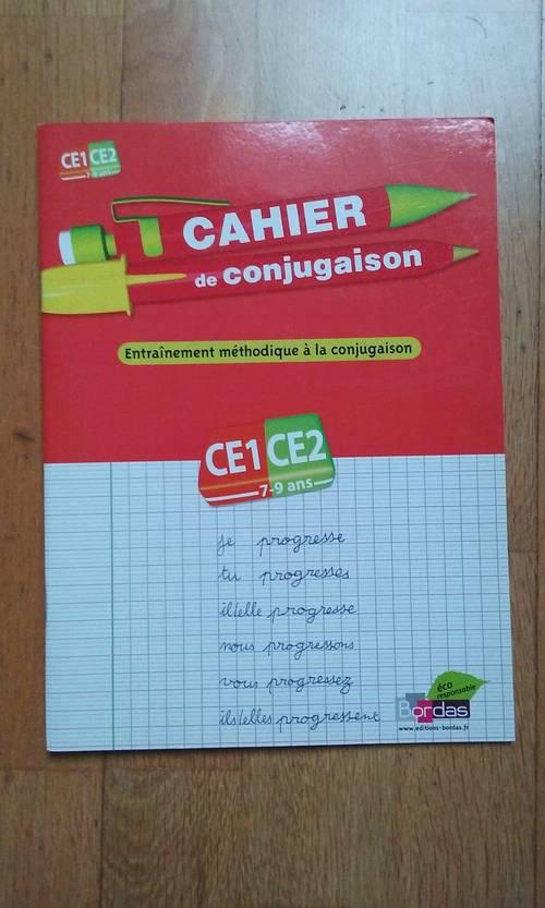 Vends cahier de conjugaison-français CE1-CE2Nathan/Bordas NEUF
