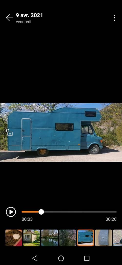 Camping Car Mercedes 307D, 5places CG