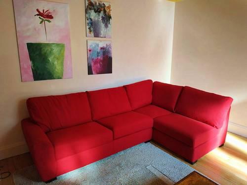 Canapé d'angle rouge neuf