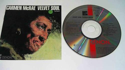 CD Carmen McRAE Vellvet soul 1986Les début d'internet avec des CD de