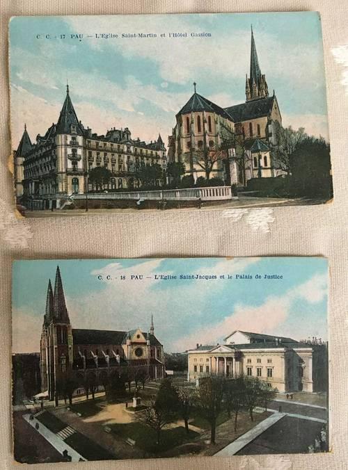 2cartes postales anciennes de PAU