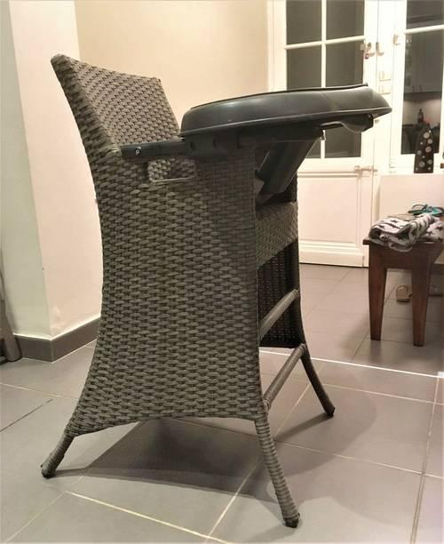 Chaise haute bébé Quaxoon demarque QUAX en rotin - Très bon état