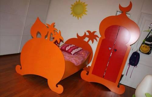 """Chambre enfant """"1001nuits"""" lit armoire 2tables chevets"""