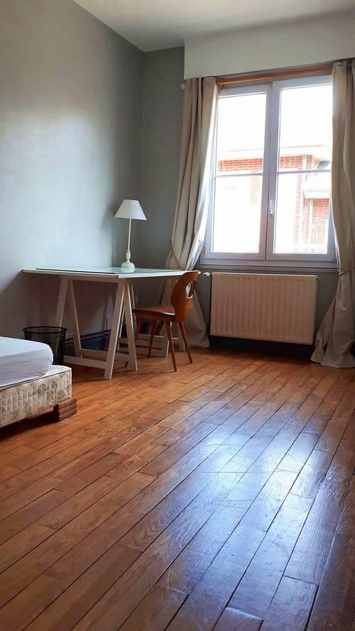 Loue chambre meublée dans F2colocation étudiante - Amiens (80) - 12m²