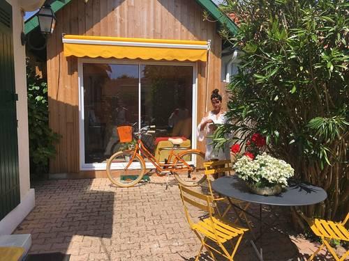 Loue charmante maisonnette en bois 4couchages - Andernos-les-Bains (33) à 3minutes de la plage