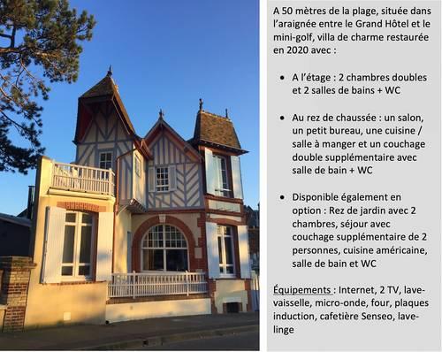 Loue charmante villa centre Cabourg (14), 50m de la mer, 4à 8couchages