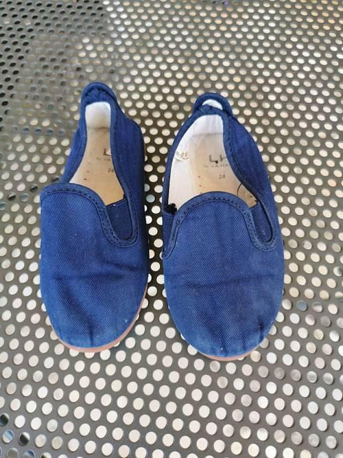 Chausson espadrille bleu pointure 24