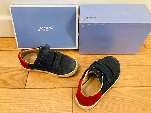 Chaussures Jacadi nubuck bleu et rouge