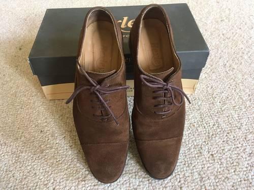 Chaussures Richelieu Bexley Velours havane - T39