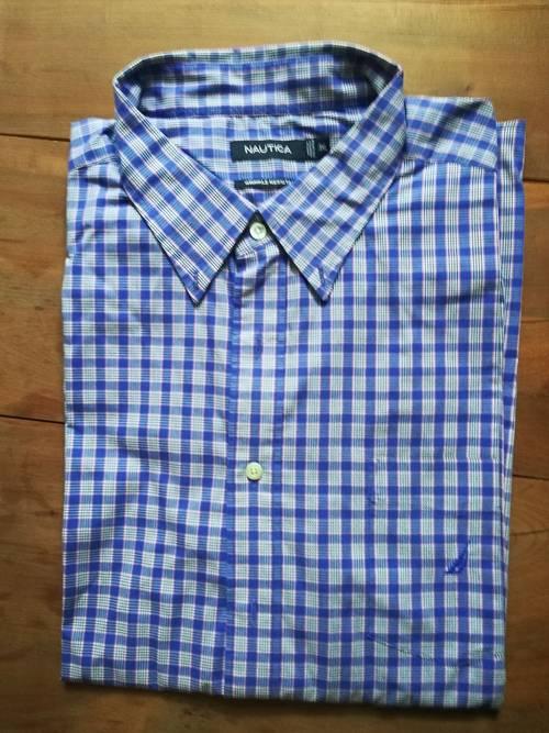 Chemise NAUTICA à carreaux bleu blanc rouge XXXL Très bon état