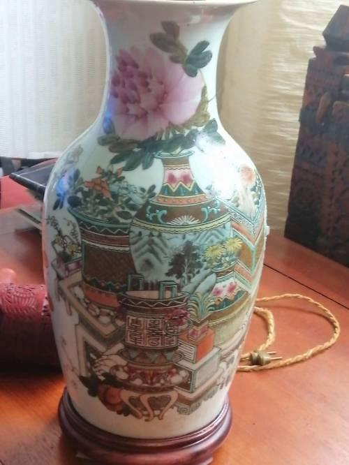 Vase Chinois Ancien Antiquité + 100ans (certificat)