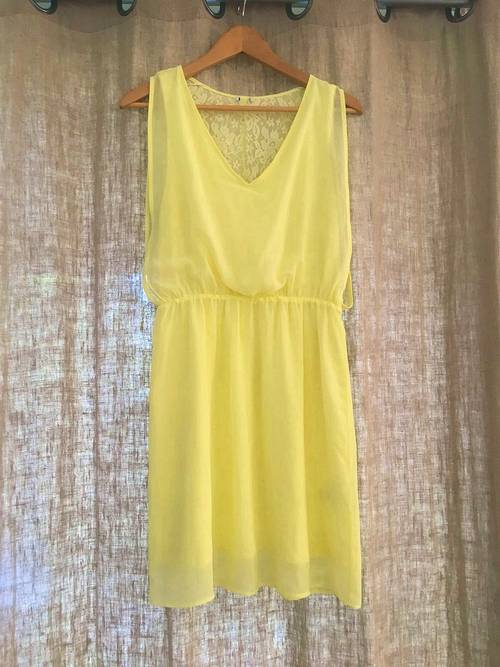 Robe cocktail jaune neuve - taille M
