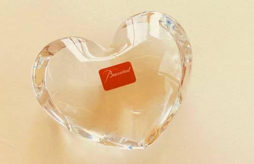 Joli cœur en cristal de Baccarat