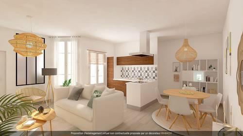 Vends appartement 2pièces au calme - 1chambre, 48m² - Coeur Jourdain, Paris 20ème