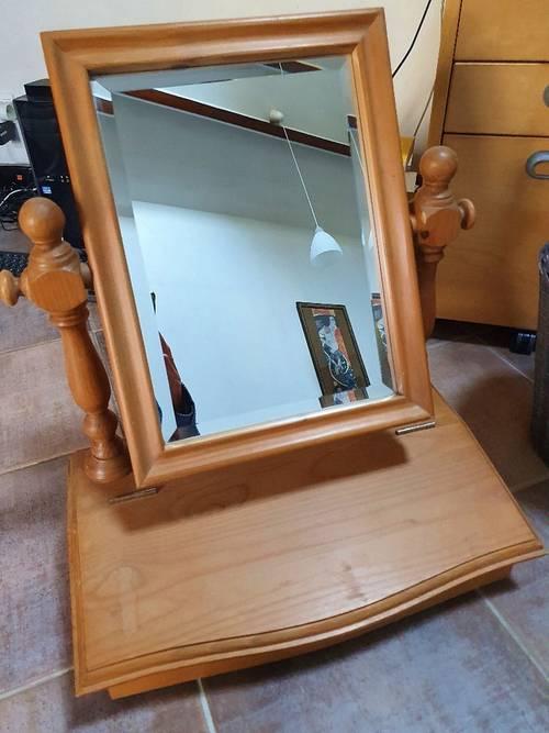 Coiffeuse, en pin, en bon état, type meuble Interior's