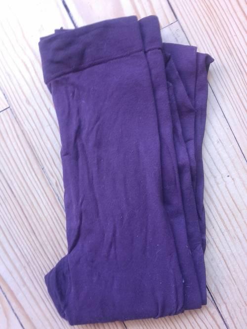 Collants violet foncé T.1TBE