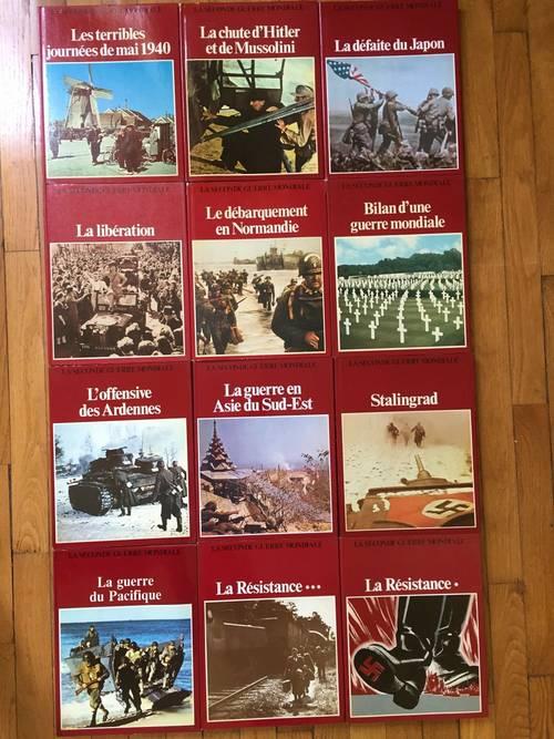 Collection de 12grands livres illustrés 2nde guerre mondiale -TB état