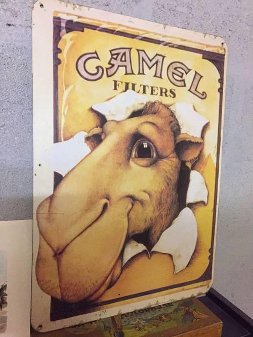 Collector plaque métal camel