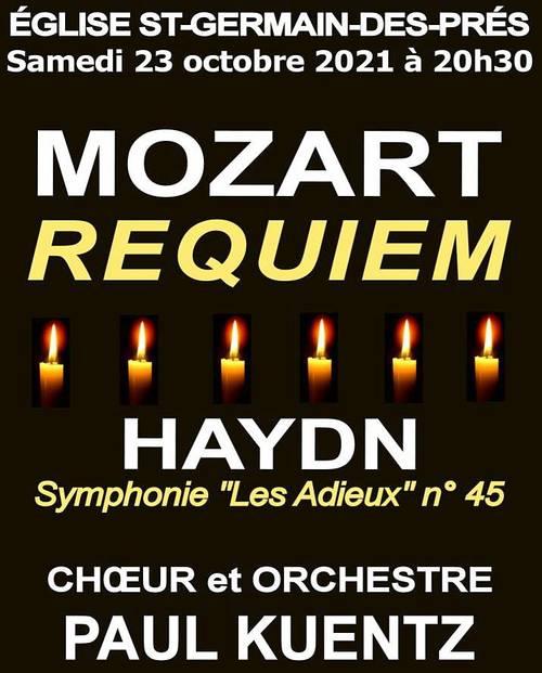 Propose concert 23/10à Paris Mozart: Requiem et Haydn: Symphonie Les Adieux