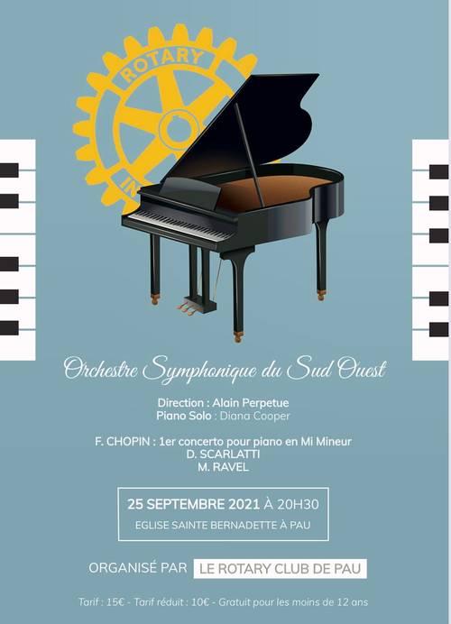 Vends concert Piano&Orchestre Symphonique, le 25Septembre 2021