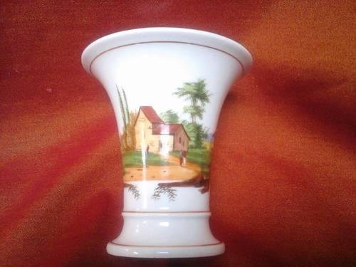 Vends Vase cornet porcelaine de Paris - début 19ème