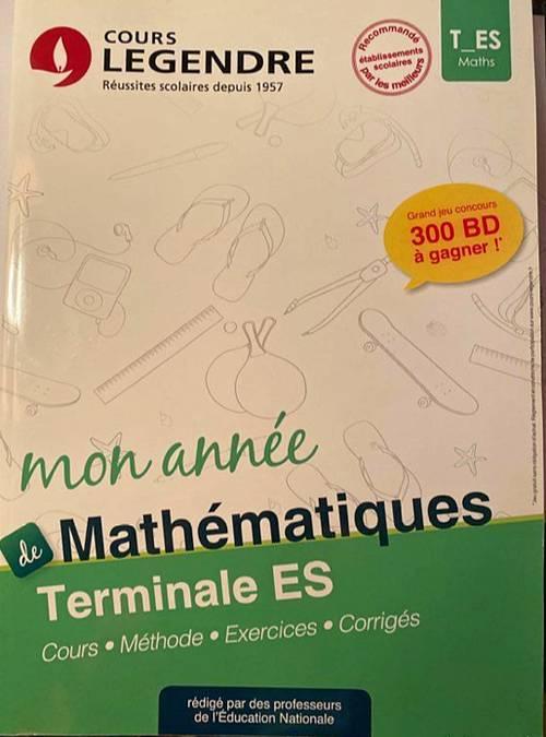 Cours Legendre T ES Lot de 2manuels