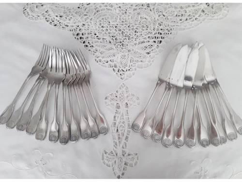 Christofle Vendôme Coquille - 22couverts à poisson
