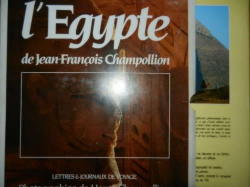 2Livres l'Egypte de Jean François Champollion et biographie