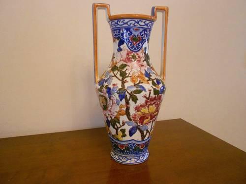 Vase de Gien décor Pivoines production ancienne