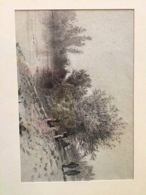 Dessin crayon -fusain vers 1900