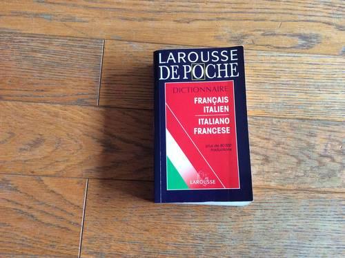 Dictionnaire Larousse de poche Francais Italien