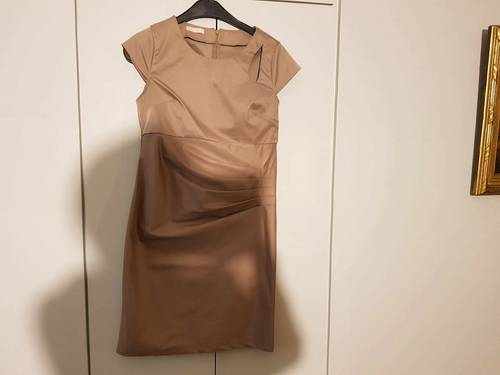 Robe drapée beige - taille 38