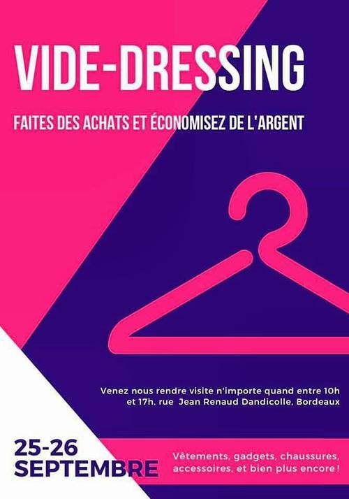Propose vide-dressing du 25/26Septembre 2021- Bordeaux (33)