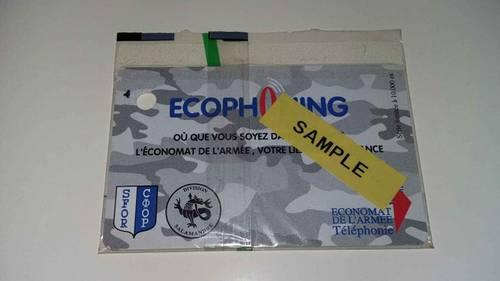 Très rare, 1télécarte ECOPHONING SAMPLE, Cartes téléphone SFOR (