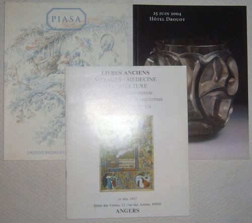 3catalogues vente Piasa dessins anciens et modernes, livres