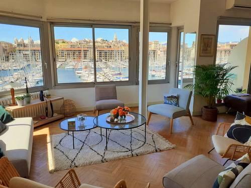 Échange appartement 127m² - vue panoramique vieux port. Marseille 7ème